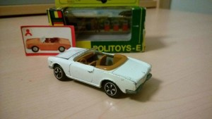Politoys Export 555 Fiat 124 sport bianco 1 By Giuseppe Goffo